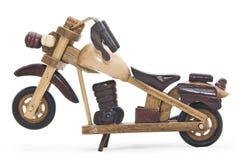 木的摩托车 免版税库存照片