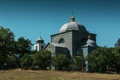 木的教会 库存照片