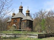 木的教会 库存图片