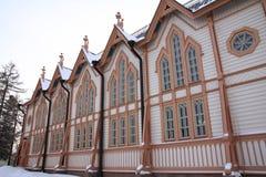 木的教会 免版税库存照片
