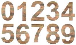 木的数字 免版税库存照片