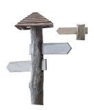 木的方向标 库存图片