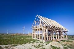 木的木屋 免版税库存图片