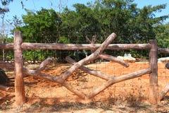 木的木栅 库存图片