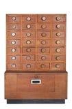 木的机柜 免版税库存图片