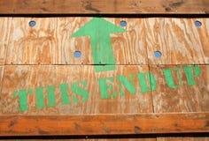 木的条板箱 免版税图库摄影