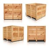 木的条板箱 免版税库存图片