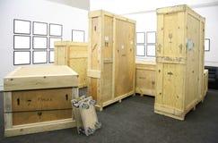 木的框架盒 库存照片