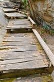 木的桥梁 免版税图库摄影