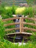 木的桥梁 免版税库存照片