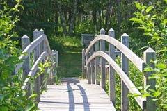 木的桥梁 免版税库存图片