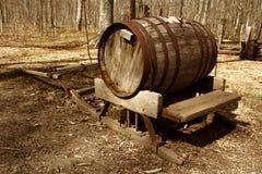 木的桶 库存图片
