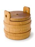 木的桶 免版税库存照片