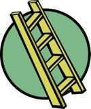 木的梯子 免版税库存图片