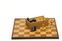木的棋枰 库存照片