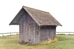 木的棚子 免版税库存图片
