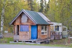木的棚子 图库摄影