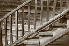木的楼梯 库存照片
