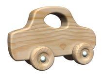 木的汽车 向量例证