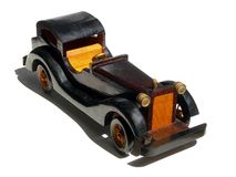 木的汽车 免版税库存照片