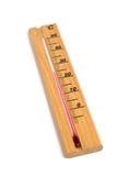 木的温度计 免版税库存图片