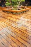 木的游廊 免版税库存图片