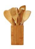 木的炊事用具 免版税库存图片