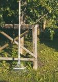 木的犁耙 免版税库存图片