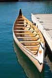 木的独木舟 库存照片