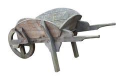 木的独轮车 免版税库存照片