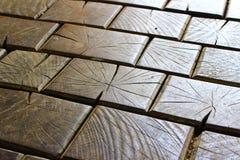 木的砖 免版税图库摄影