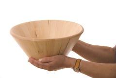 木的碗 库存图片