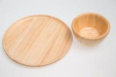 木的碗 库存照片