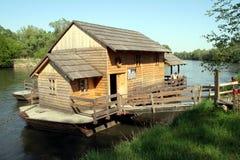木的磨房 库存照片