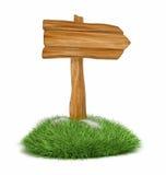 木的箭头 免版税库存照片