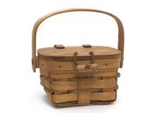 木的篮子 库存照片