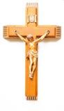 木的耶稣受难象 免版税库存图片