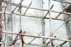 木的脚手架 免版税图库摄影