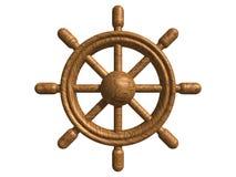木的船舵 库存图片