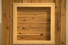 木的视窗 库存照片