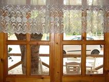 木的视窗 库存图片