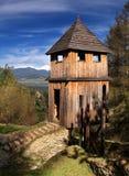 木的设防 库存图片