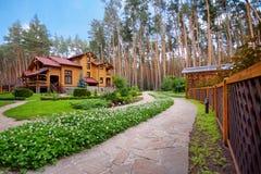 木的豪宅 库存照片