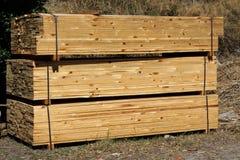 木的货盘 库存照片