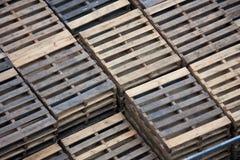 木的货盘 免版税图库摄影