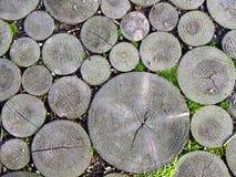 木的路面 库存图片