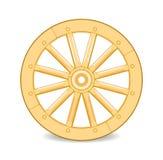 木的轮子 免版税库存图片