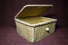 木的配件箱 库存照片