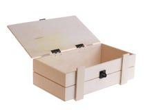 木的配件箱 免版税库存照片
