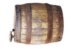 木的酒桶 免版税库存图片